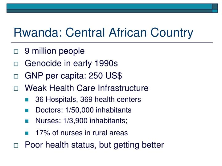 Rwanda: Central African Country