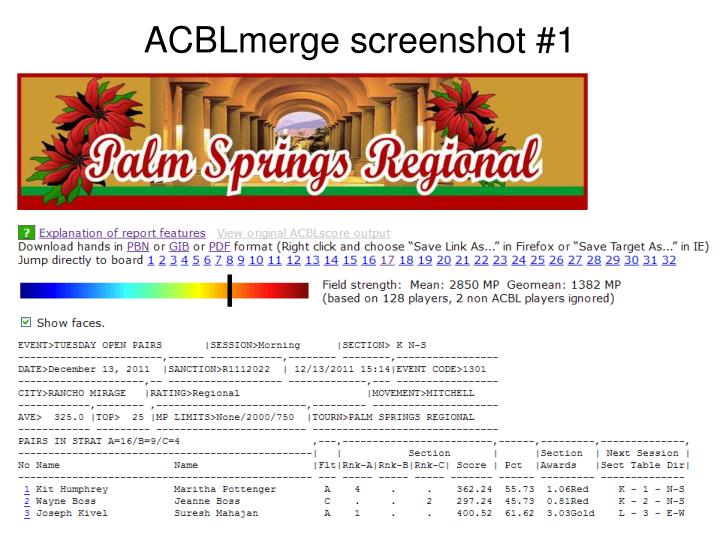 Acblmerge screenshot 1