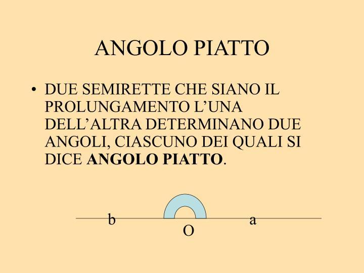 ANGOLO PIATTO