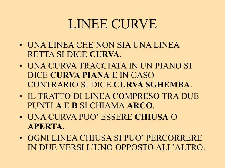 LINEE CURVE