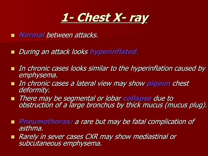 1- Chest X- ray
