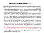 i requisiti di ordine generale cause ostative penali art 38 1 lett c