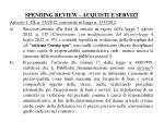 spending review acquisti e servizi