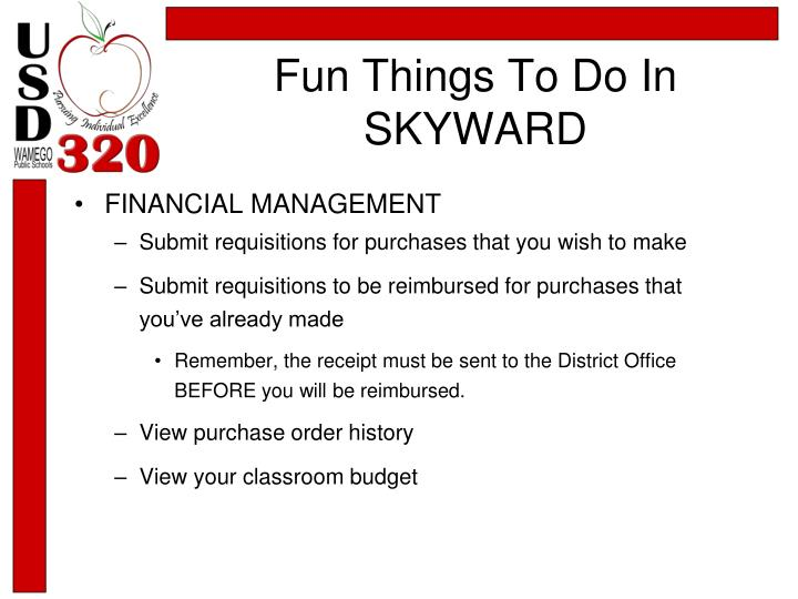 Fun Things To Do In SKYWARD