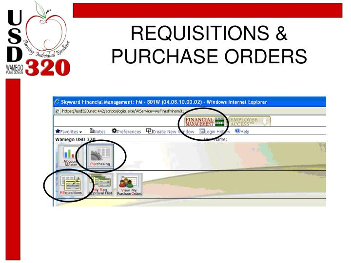 REQUISITIONS & PURCHASE ORDERS