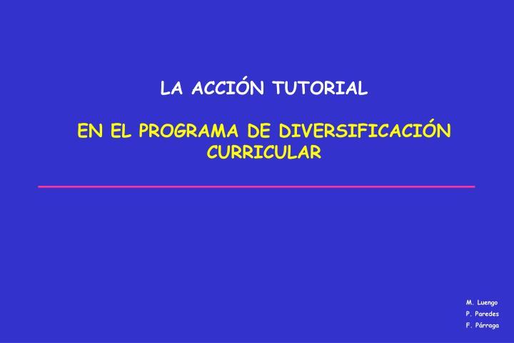La acci n tutorial en el programa de diversificaci n curricular