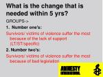 what is the change that is needed within 5 yrs1