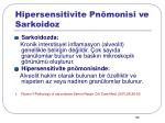 hipersensitivite pn monisi ve sarkoidoz