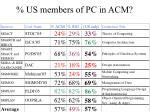 us members of pc in acm