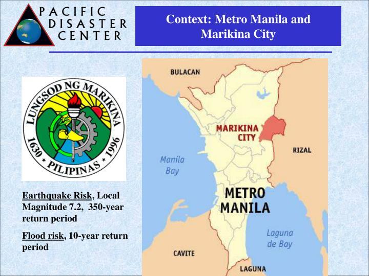 Context: Metro Manila and