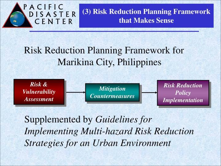 (3) Risk Reduction Planning Framework