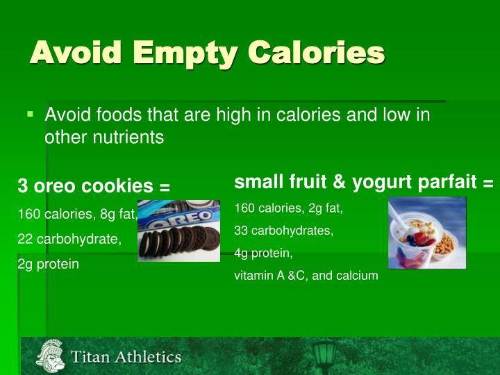 Avoid Empty Calories