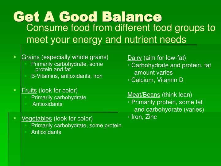 Get A Good Balance