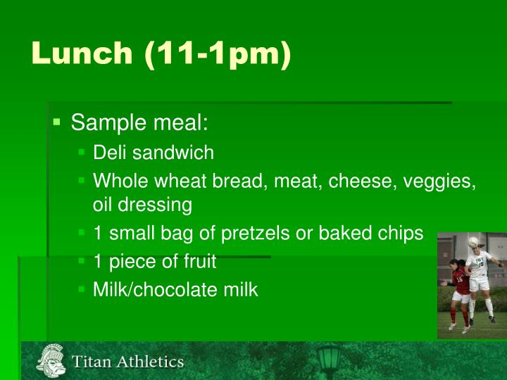 Lunch (11-1pm)