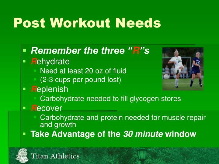 Post Workout Needs