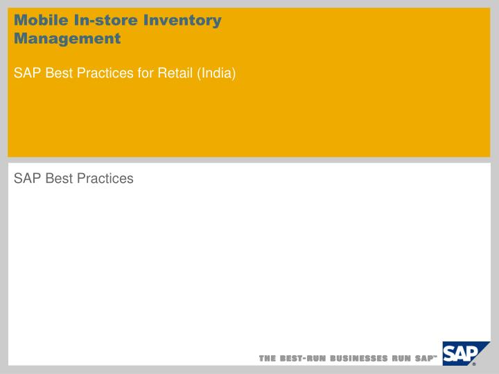 mobile in store inventory management sap best practices for retail india