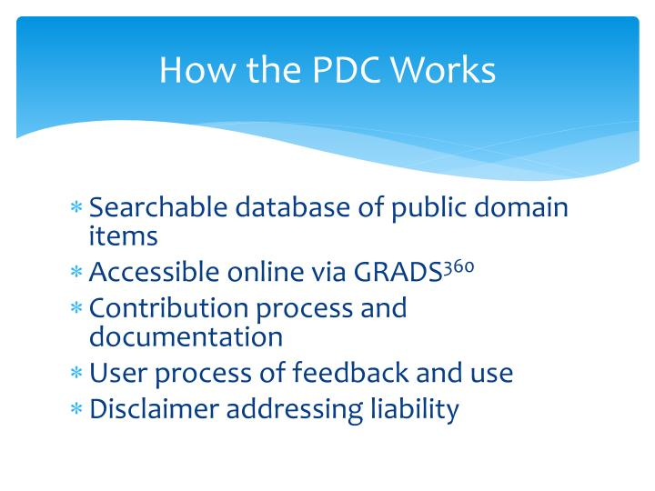 How the PDC Works