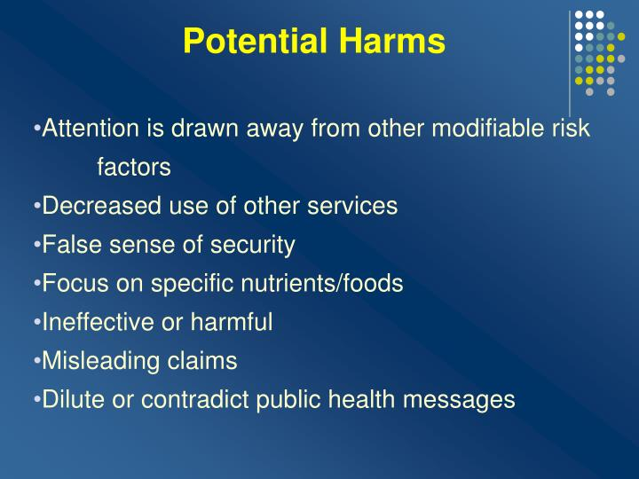 Potential Harms