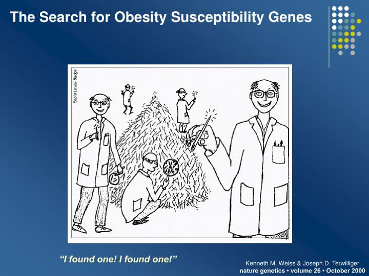 The Search for Obesity Susceptibility Genes