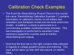 calibration check examples1