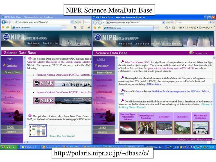 NIPR Science MetaData Base