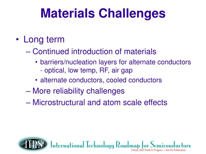 Materials Challenges