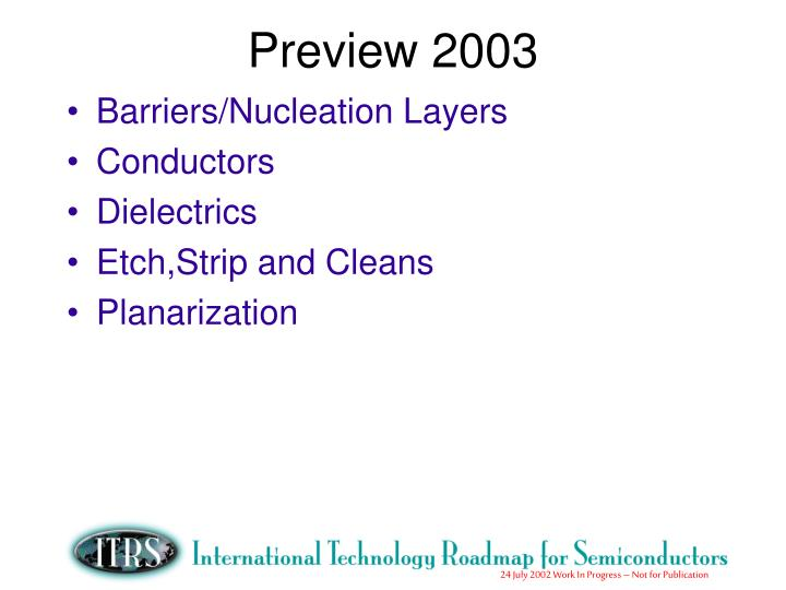 Preview 2003