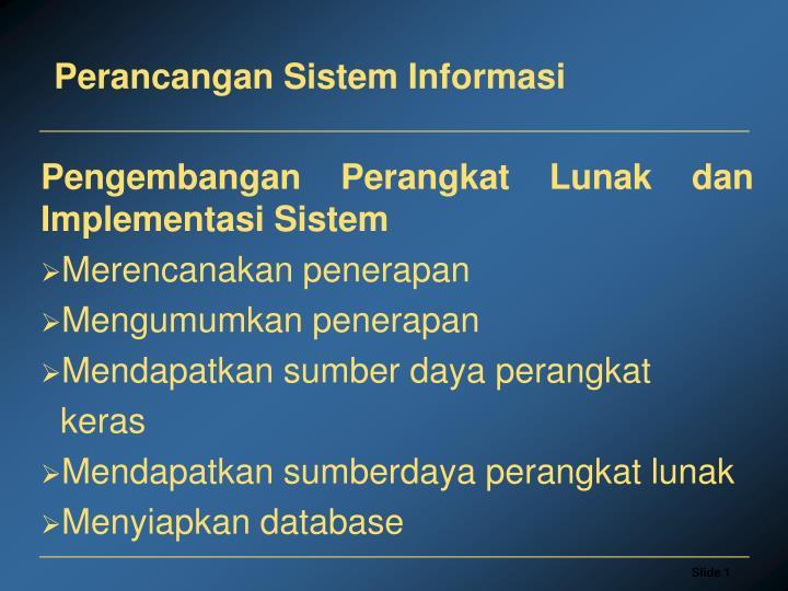 perancangan sistem informasi n.