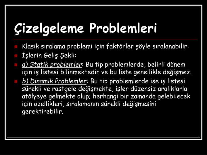 Çizelgeleme Problemleri