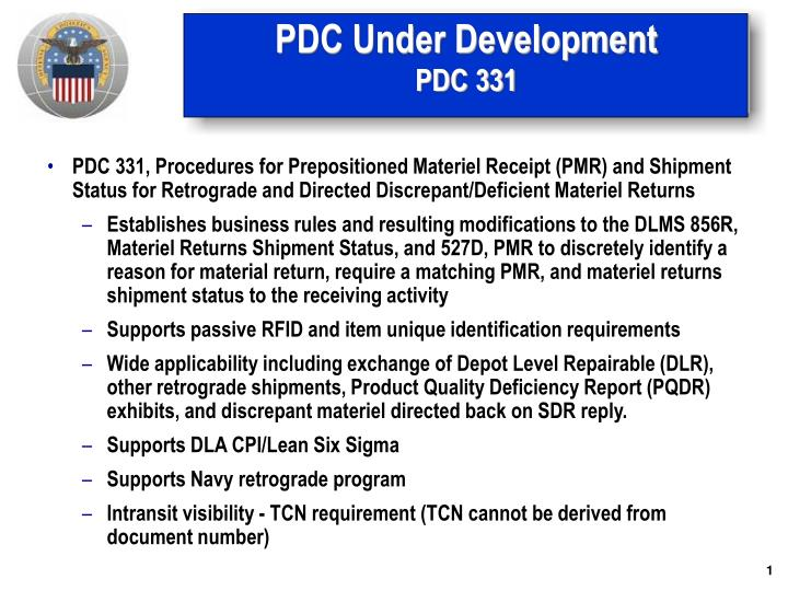 pdc under development pdc 331 n.