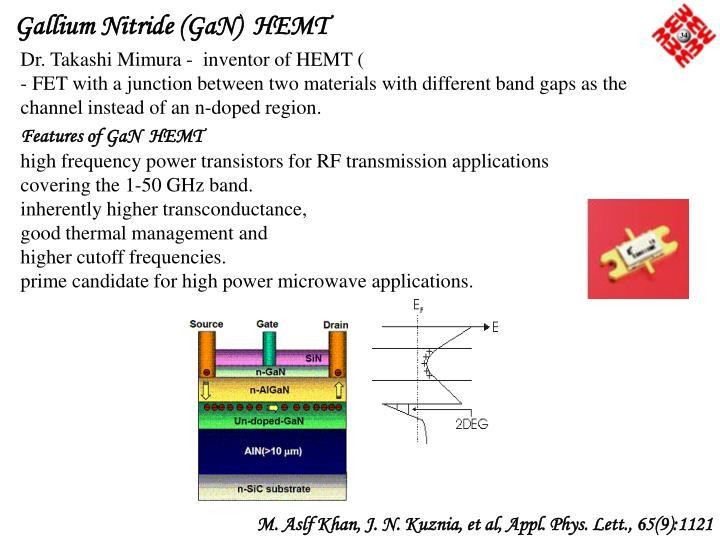 Gallium Nitride (GaN)  HEMT