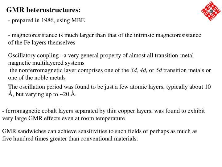 GMR heterostructures: