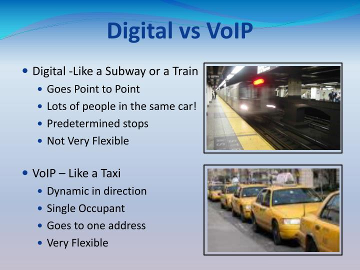 Digital vs VoIP