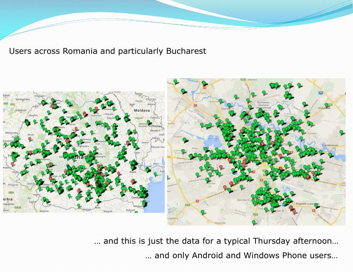 Users across Romania and particularly Bucharest