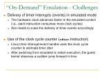 on demand emulation challenges4