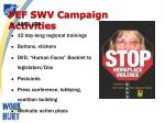 pef swv campaign activities