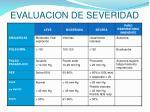 evaluacion de severidad1
