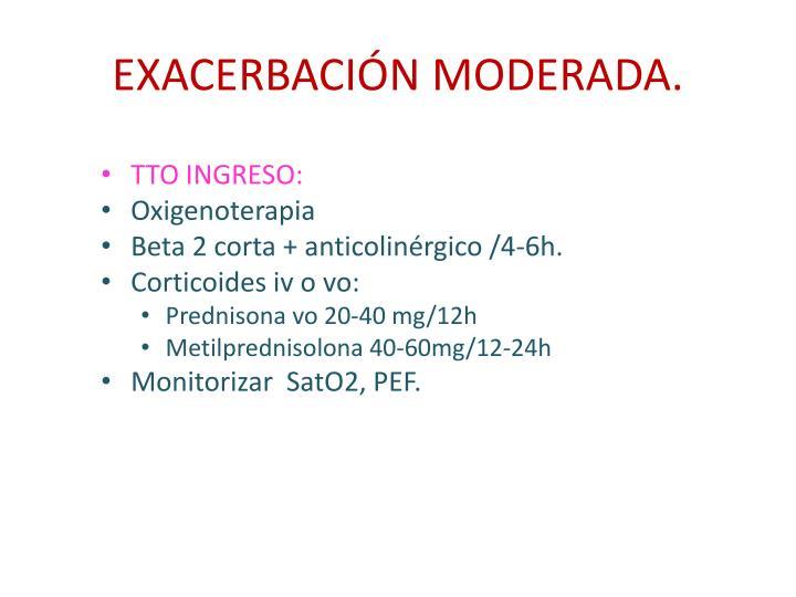 EXACERBACIÓN MODERADA.