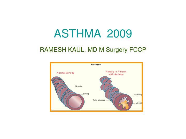 asthma 2009 n.