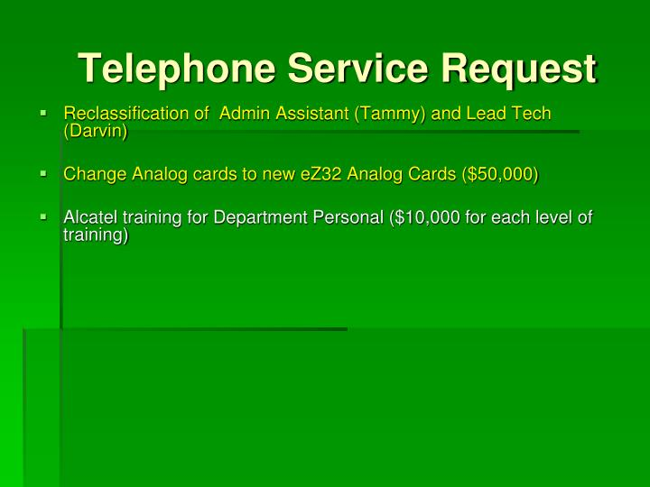 Telephone Service Request