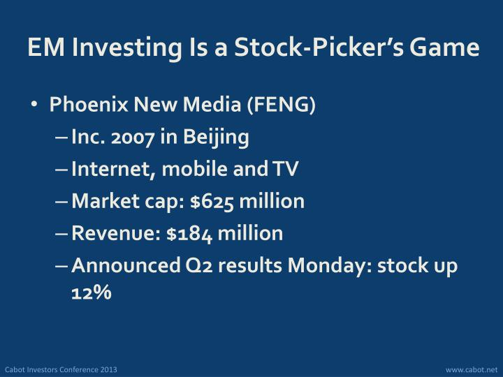 EM Investing Is a Stock-Picker's Game