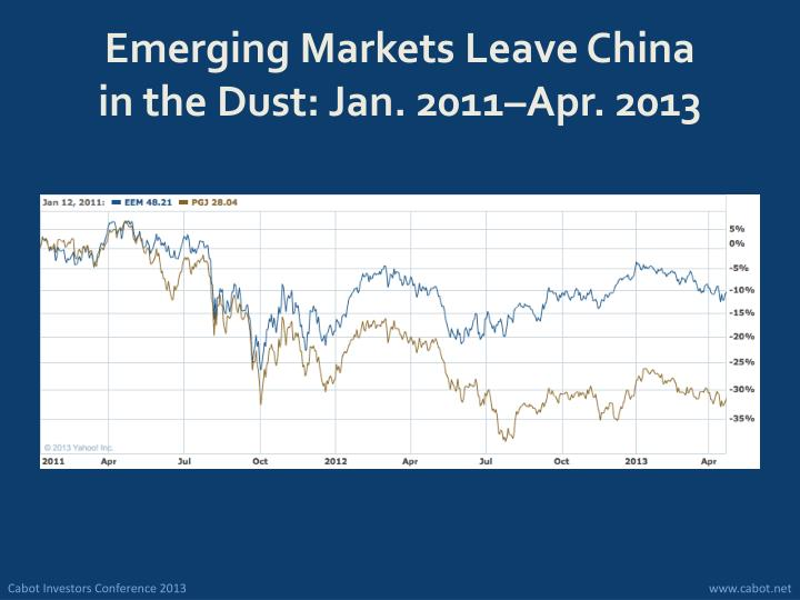 Emerging Markets Leave China