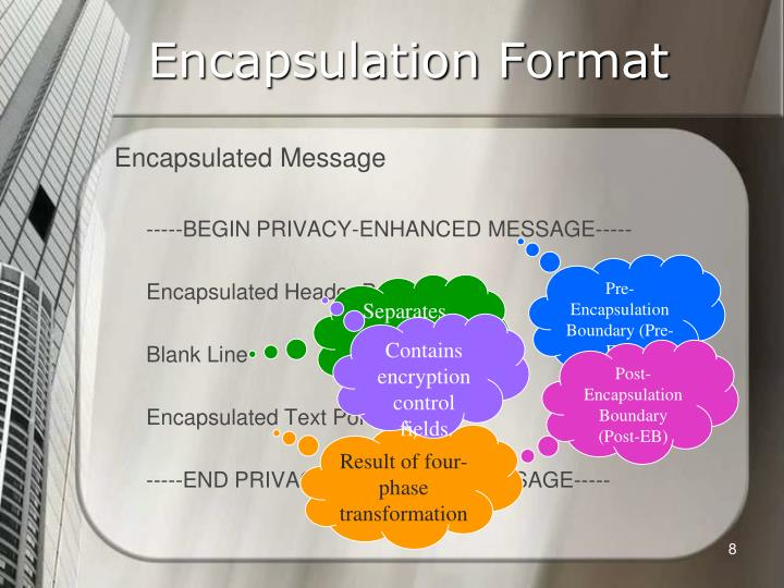 Encapsulation Format
