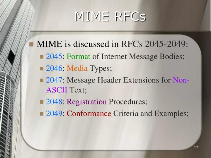 MIME RFCs