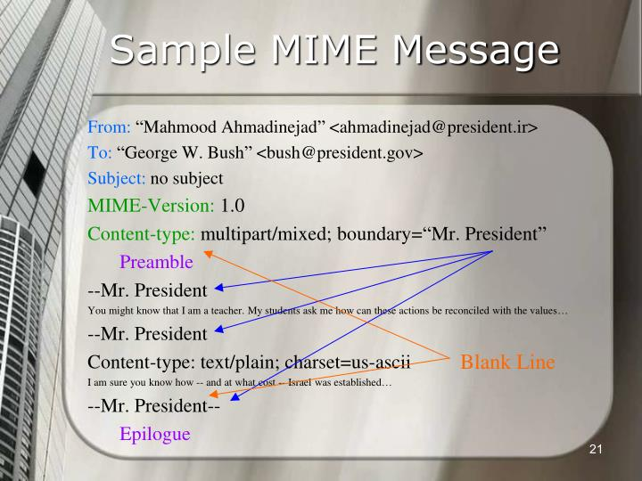 Sample MIME Message