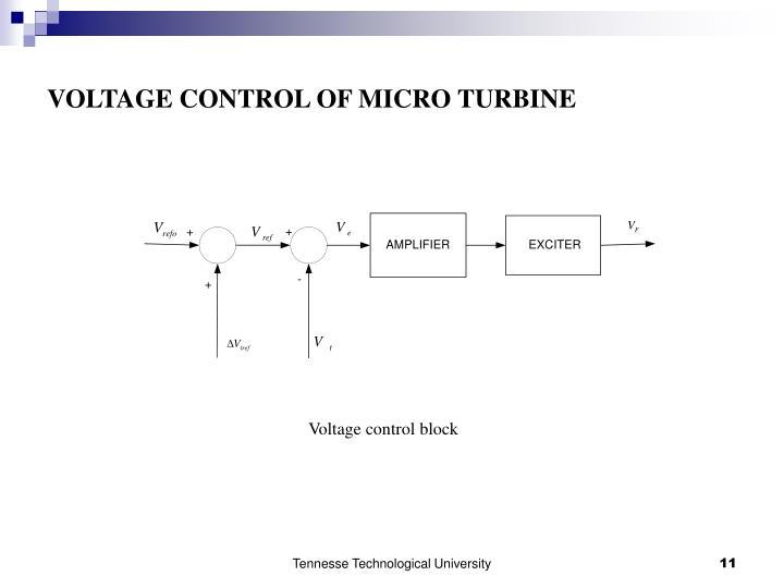 VOLTAGE CONTROL OF MICRO TURBINE