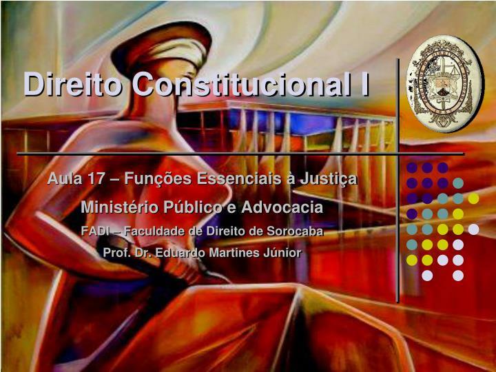 direito constitucional i n.