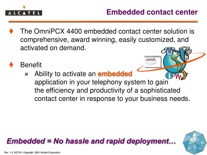 Embedded contact center