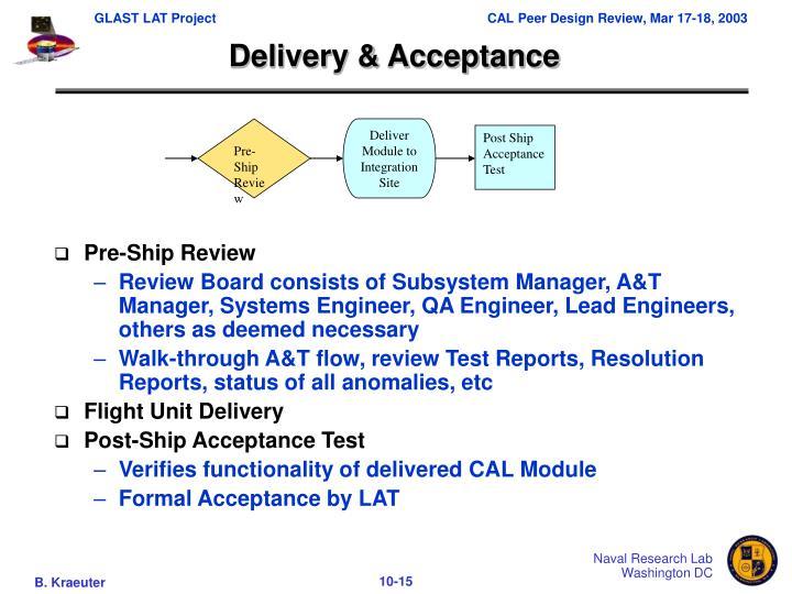 Pre-Ship Review