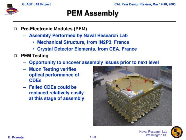 Pem assembly